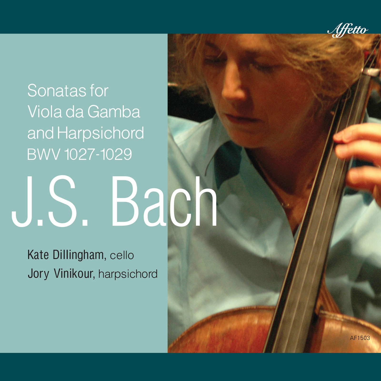J.S. Bach Three Sonatas for Viola da Gamba and Harpsichord, BWV 1027-1029