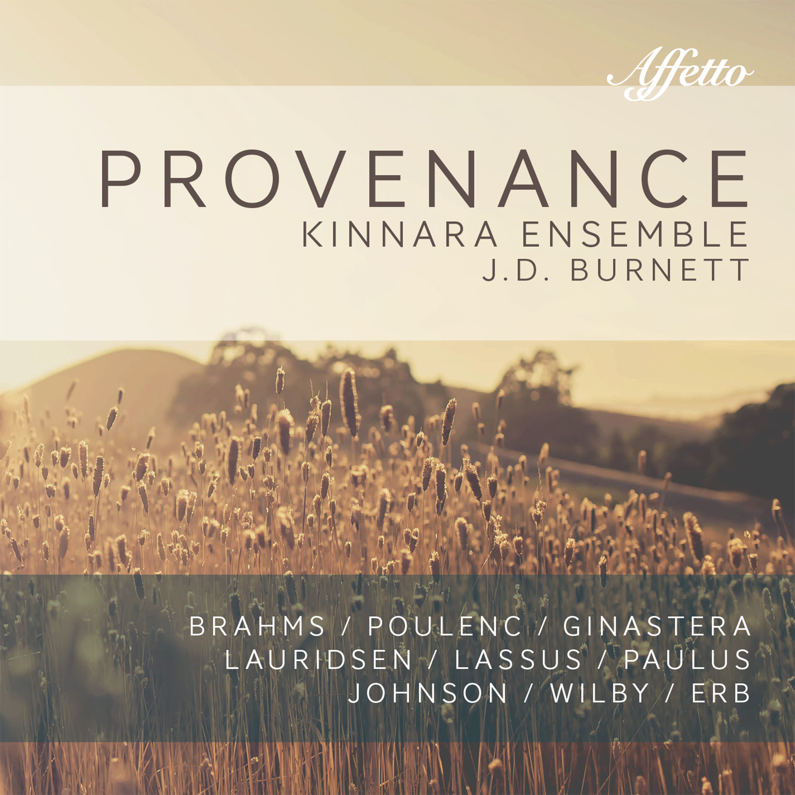 Provenance by the Kinnara Ensemble / J.D. Burnett