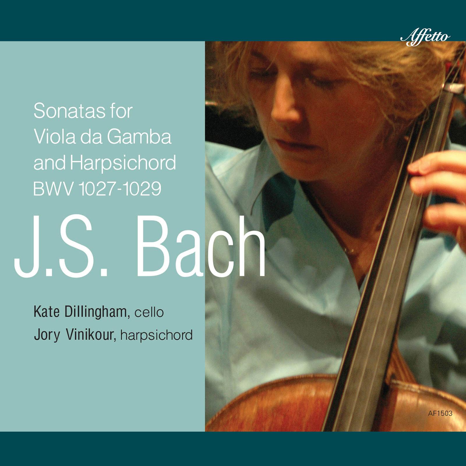 J.S. Bach Three Sonatas for Viola da Gamba and Harpsichord, BWV 1027-1029